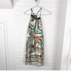 {Arden B} Silk Abstract Patterned Mini Dress